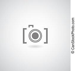 symbol - Camera symbol on gray background