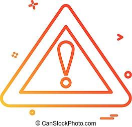 symbol error warning alert icon vector design
