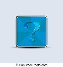 symbol, etikett, fråga