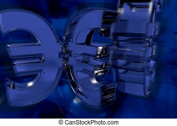 symbol, euro, blue