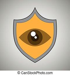 symbol eye alert data