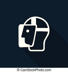 Symbol Face Shield Must Be Worn Sign on black background,vector illustration