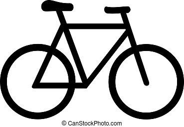symbol, fahrrad, fahrrad