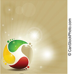 symbol, farverig