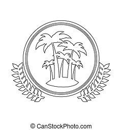 symbol figure island icon