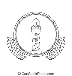 symbol figure lighthouse icon