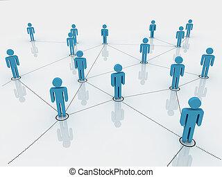 symbol, figuren, vernetzung, menschliche , sozial