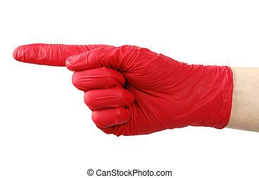 Symbol finger of the gloves