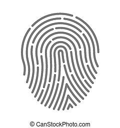 Symbol fingerprint art protect finger. Vector illustration