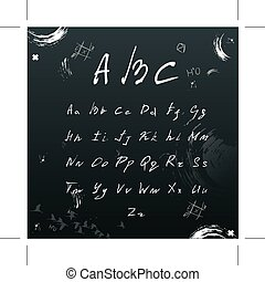 Symbol font hands draw Set . On Background. Vector Illustration,