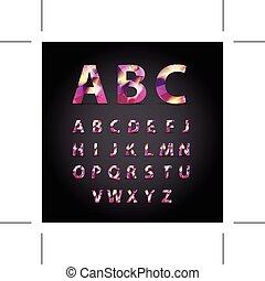 Symbol font Set - On Background - Vector Illustration, Graphic
