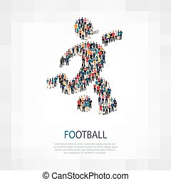 symbol football people crowd