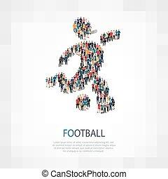 symbol football people crowd