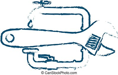 Symbol for repairing plumbing abstracts