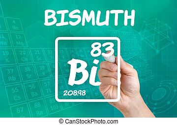 Symbol for the chemical element bismuth