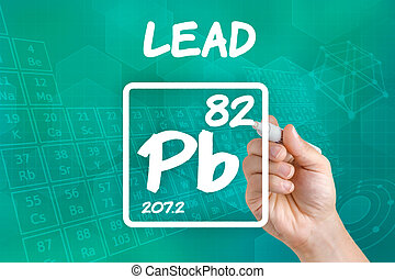 Symbol for the chemical element lead