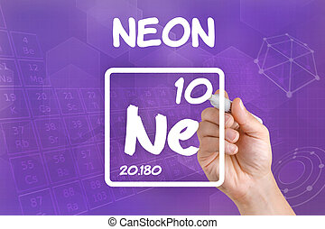 Symbol for the chemical element neon