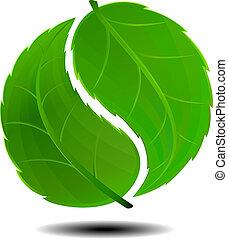 symbol, grön