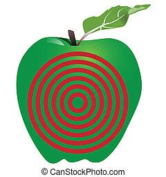 Symbol, grön, måltavla,  Äpple