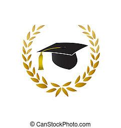 Symbol graduate. Graduate certificate Illustration