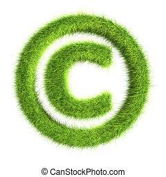 symbol, gras, copyright