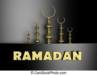 symbol, hälfte, ramadan, hintergrund, mond