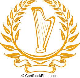 symbol, harfa
