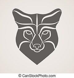 Symbol head of the old fox