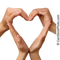 Symbol Heart - Female hands showing heart sign love concept