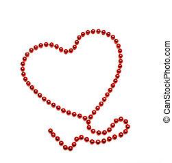 symbol heart of beads