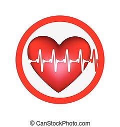 symbol heartbeat icon image