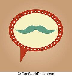 symbol hipster mustache fashion icon
