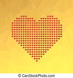 symbol, hjärta, röd