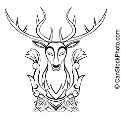 symbol, hjort