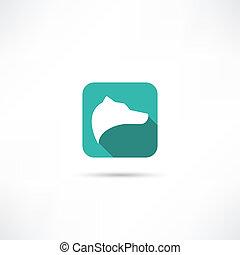 symbol, hunde ikone