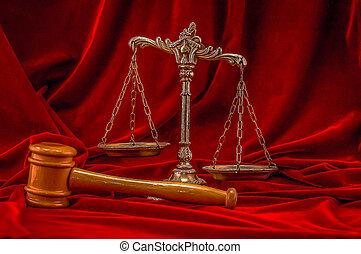 symbol, i, lov, og, retfærdighed