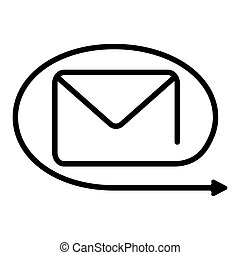 Symbol, icon forwarding messages, redirection, vector sign icon redirect, reroute sending messages to another recipient, resend