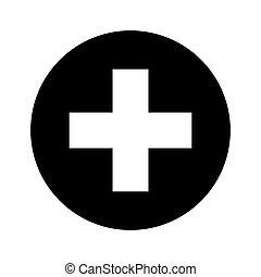 symbol, ikone, medizin, kreuz