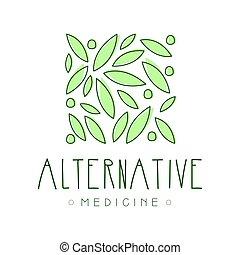 symbol, illustration, vektor, medicin, logo, alternativ