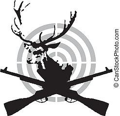 symbol, jagd, hirsch