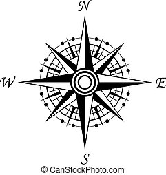 symbol, kompaß