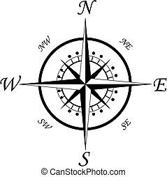 symbol, kompas