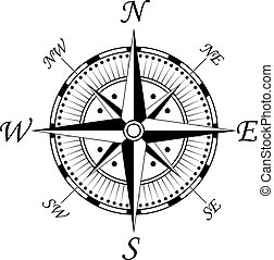 symbol, kompass