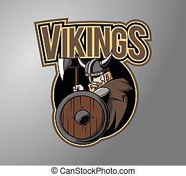 symbol, konstruktion, vikings, illustration