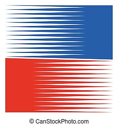 Symbol / logo shape with straight parallel horizontal lines