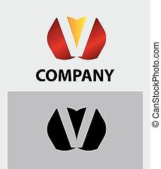 symbol, logo, vektor, v, firma