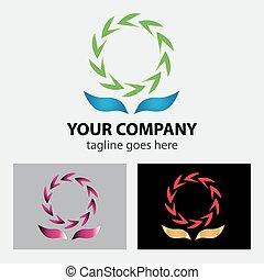 symbol, logo, zwischen, secycling, zwei