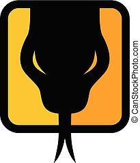 symbol, logotype, zeichen, schlange, schablone, logo, ikone