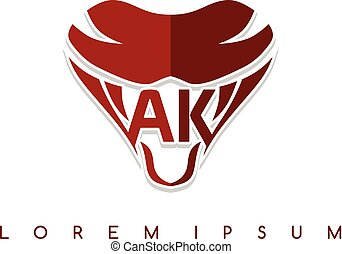 symbol, logotype, znak, wąż, szablon, logo, ikona
