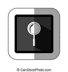 symbol magnifying glass icon